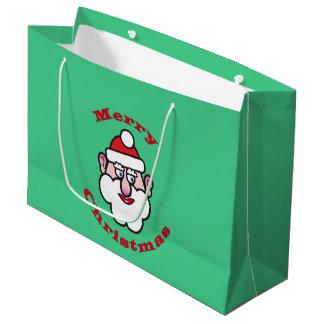 Merry Christmas, Christmas Santa Claus Large Gift Bag