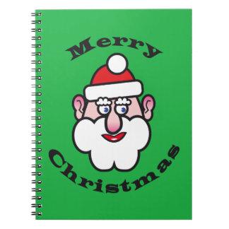 Merry Christmas, Christmas Santa Claus Spiral Notebook