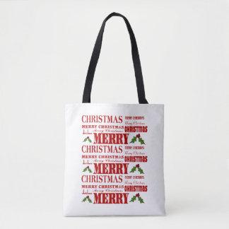 Merry Christmas Christmas Tote Bag