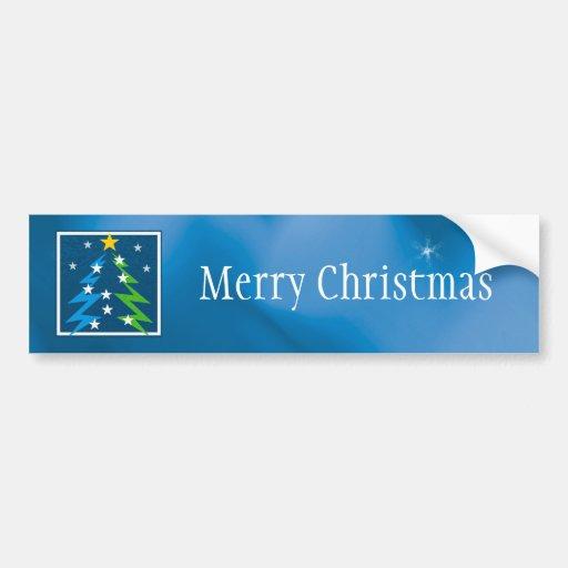 Merry Christmas - Christmas Tree - Bumper Sticker