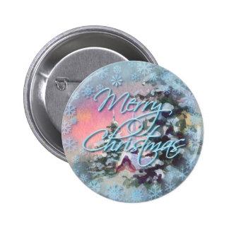 MERRY CHRISTMAS CHURCH by SHARON SHARPE 6 Cm Round Badge