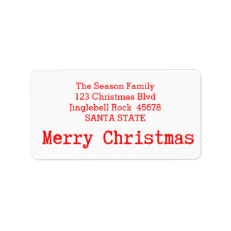 Merry Christmas Classic Address Label