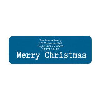 Merry Christmas Classic Return Address Label