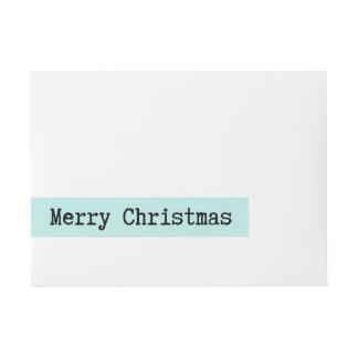 Merry Christmas Classic Wraparound Address Label