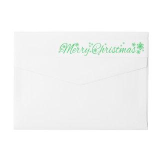 Merry Christmas Classic Wraparound Return Address Label