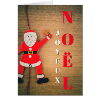 Merry Christmas Climbing Father Christmas Card