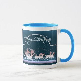 MERRY CHRISTMAS COACH & HORSES by SHARON SHARPE Mug