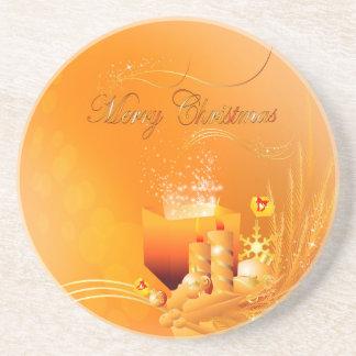 Merry christmas drink coaster