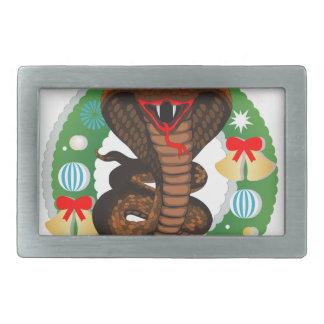 merry christmas cobra snake belt buckles