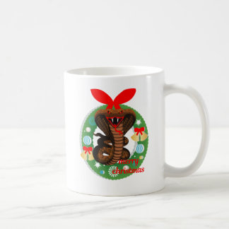 merry christmas cobra snake coffee mug