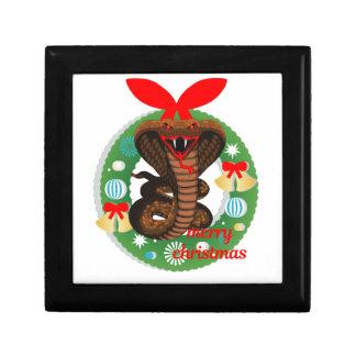 merry christmas cobra snake gift box