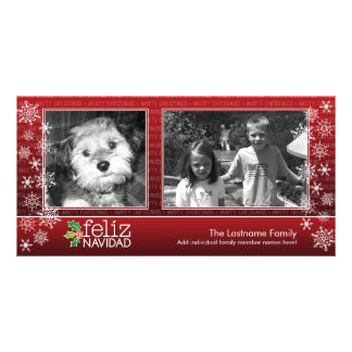Merry Christmas - collage of 2 photos Customized Photo Card