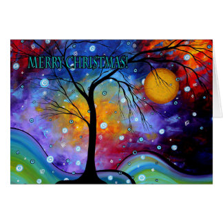Merry Christmas Colorful Art Greeting Card MADART