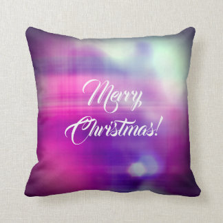 Merry Christmas Colorful Design Texture Cushion