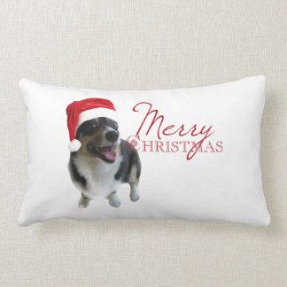 Merry Christmas Corgi Lumbar Cushion