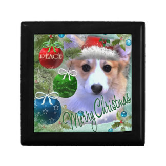 Merry Christmas Corgi Puppy Gift Box