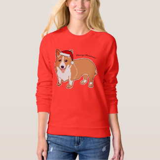 Merry Christmas Corgi Women's Raglan Sweatshirt