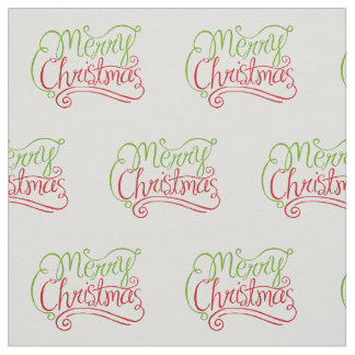 "Merry Christmas Cotton Twill (58"" width) Fabric"