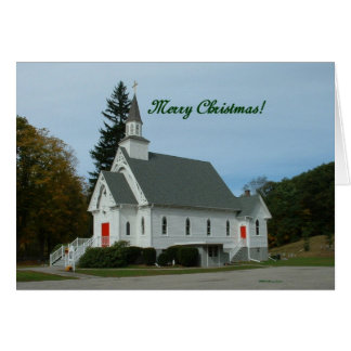 Merry Christmas!  Country Church Greeting Card