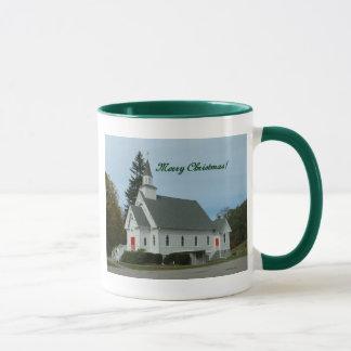 Merry Christmas!  Country Church Mug