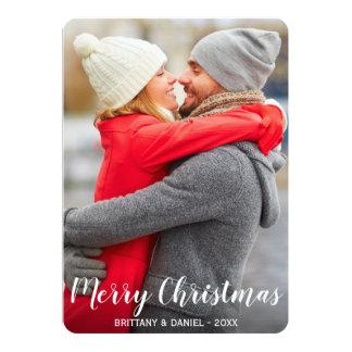 Merry Christmas Couple Photo Card LR
