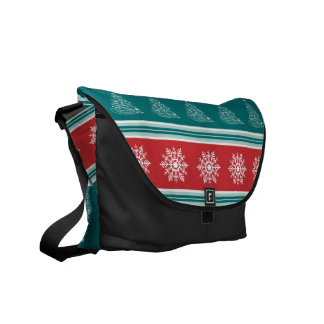 Merry Christmas Courier Bag