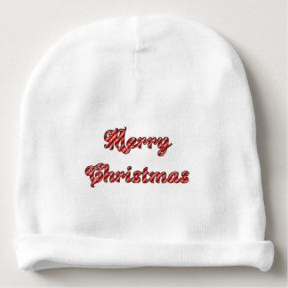 Merry Christmas Custom Baby Cotton Beanie Baby Beanie