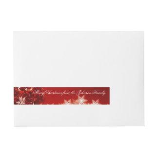 Merry Christmas Custom Message Wrap Around Labels Wraparound Address Label