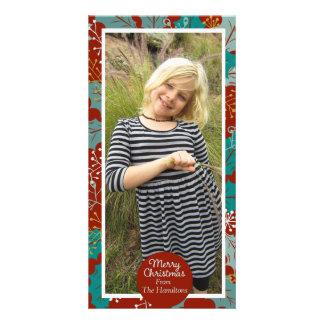 Merry Christmas custom modern photo Customized Photo Card