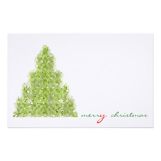 merry christmas custom stationery