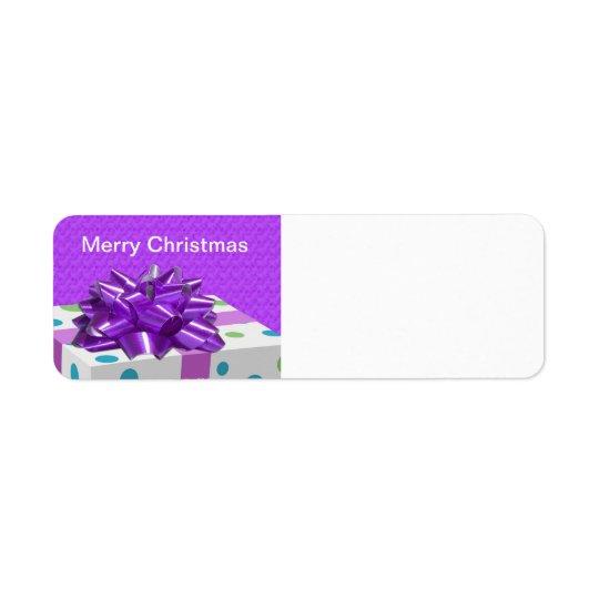 Merry Christmas Customisable Return Address Label