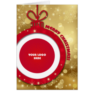 Merry Christmas Customizable Corporate Photo Cards