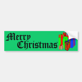 Merry Christmas! Customize Me! Bumper Sticker