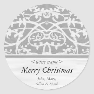 Merry Christmas Customized Wine Label Sticker