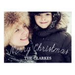Merry Christmas Cute Handwriting & Photo Postcard