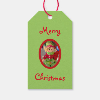 Merry Christmas cute little girl elf red and green