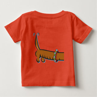 Merry Christmas, Dachshund Baby T-Shirt
