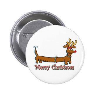 Merry Christmas Dachshund Pin