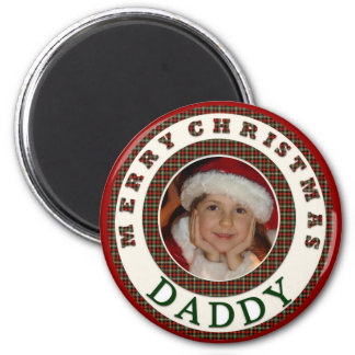 Merry Christmas Daddy Custom Photo Magnet