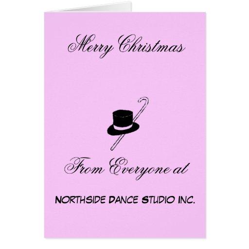 Merry Christmas Dance Studio Card
