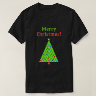 """Merry Christmas!"" + Decorated Christmas Tree T-Shirt"
