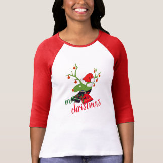 Merry Christmas decoration Reindeer design t-shirt