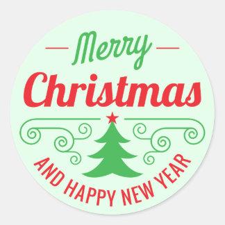 Merry Christmas Decorative Stickers