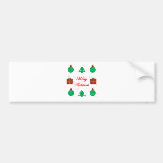 Merry Christmas Design Bumper Sticker