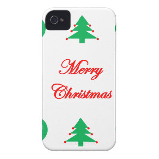 Merry Christmas Design iPhone 4 Cover