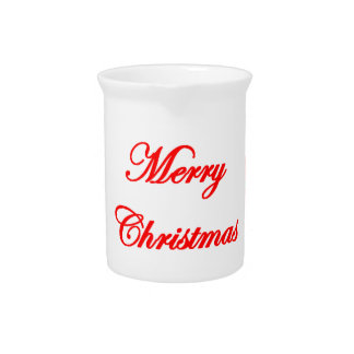 Merry Christmas Design Pitcher