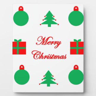 Merry Christmas Design Plaque
