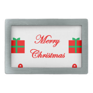 Merry Christmas Design Rectangular Belt Buckle