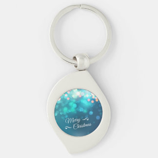 Merry Christmas design with sparkles Keychains