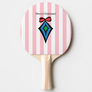 Merry Christmas Diamond Ornament Ping Pong Paddle
